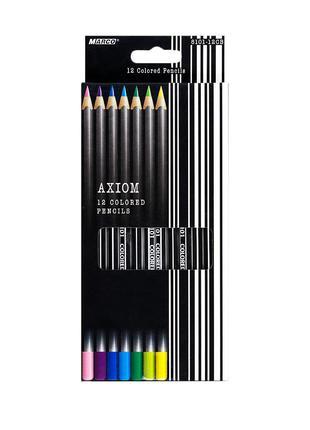 Карандаши цветные Marco Axiom 12 цветов (8101-12CB)