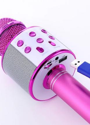 Беспроводной Bluetooth микрофон караоке WS 858