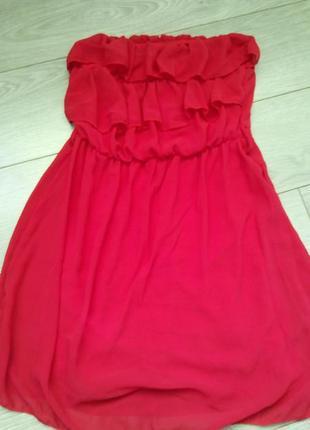 Червоне шифонове плаття