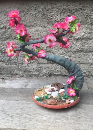 Искусственное дерево бонсай сакура