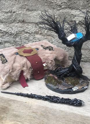 Набор Гарри Поттера, книга чудовищ,гремучая ива,волшебная палочка