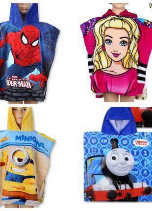 Полотенце-пончо Disney для девочки и мальчика . Лицензия.Качество