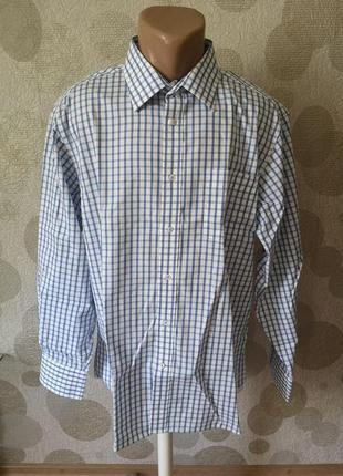 Мужская рубашка сорочка в клетку