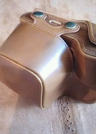 Защитный футляр - чехол для фотоаппаратов цвет кофе.