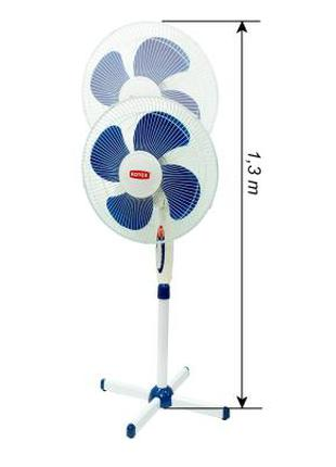 Вентилятор напольный, 40см в диаметре, мощность двигателя 45Вт