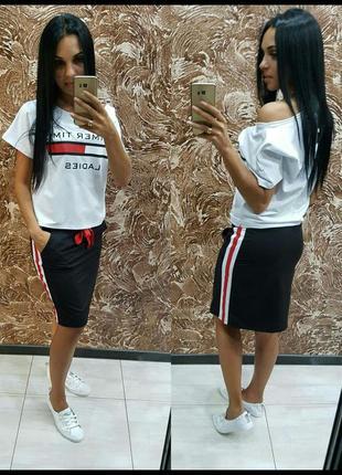Женское спортивное платье белое, серое