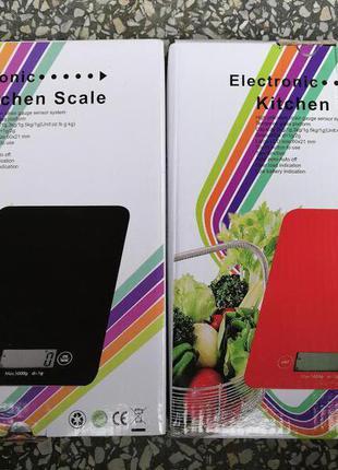 Электронные Кухонные Весы стекло от 1 г до 5 кг ваги кухонні