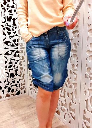 Шорты удлиненные женские бренд denim джинсовые бермуды бриджи ...