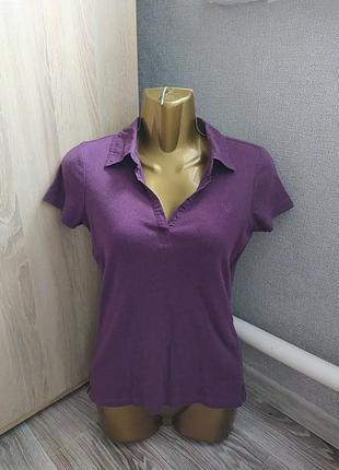 Женская футболка фиолетового цвета