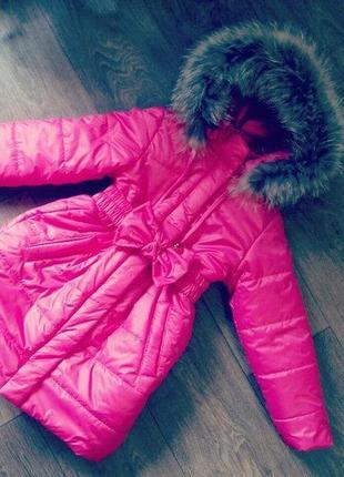 Зимнее пальто для девочки 1 - 14 лет