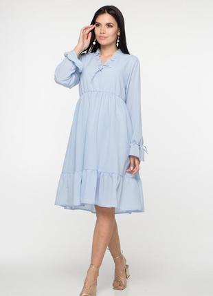 Нежно голубое платье (ольга )