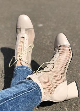 Летние ботинки сеточка
