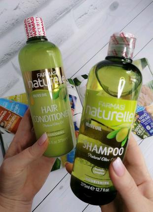 Шампунь и кондиционер для волос с оливковым маслом