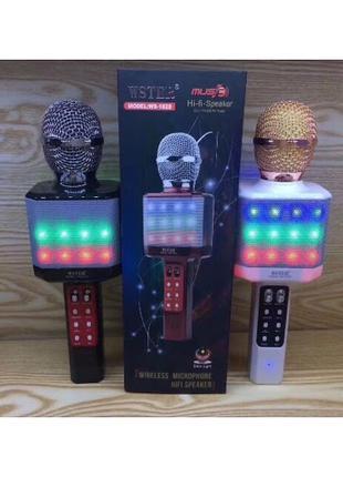 Караоке-микрофон Wster WS-1828 с подсветкой