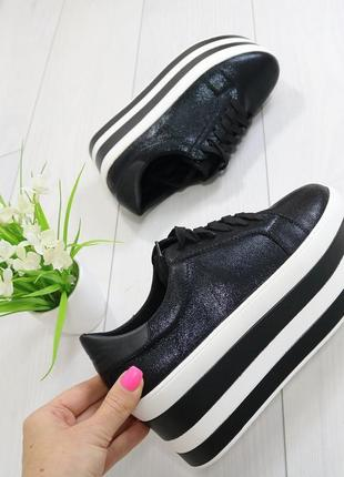 Женские кроссовки на высокой подошве платформе