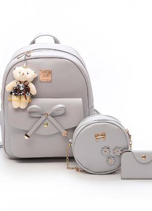 Рюкзак Jivrizo Gray в наборе с сумкой 2008