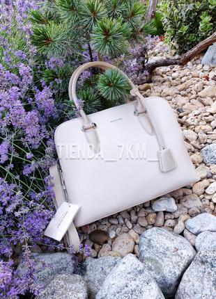 Офисная женская сумка на три отделения david jones 6207-2t беж...