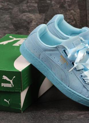 Puma suede bow