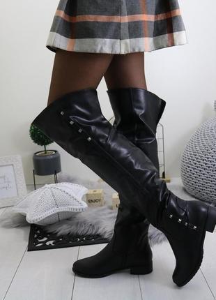 Зимние женские сапоги ботфорты