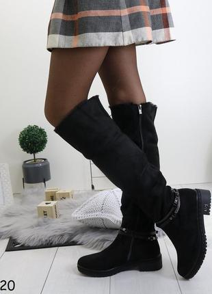 Зимние женские высокие сапоги