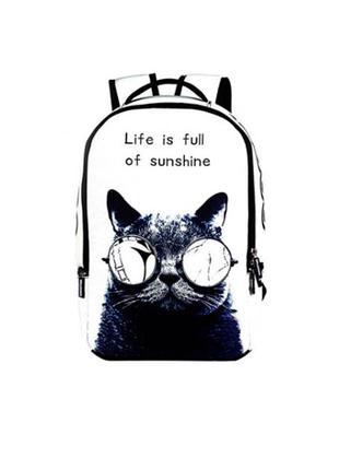 Рюкзак с котом в очках 4049