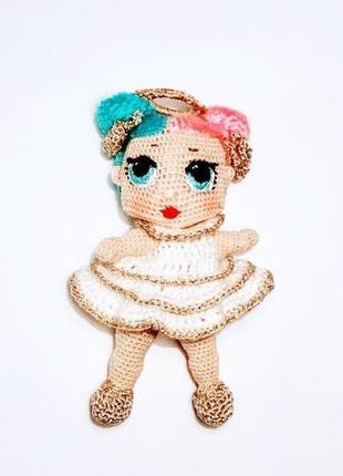 Вязаные игрушки, кукла Лол