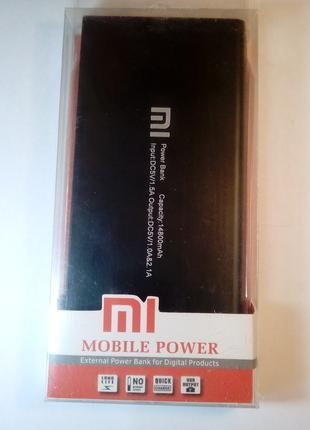 Повер банк Портативное зарядное Power Bank Xiaomi 14800 тонкий