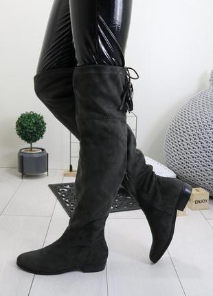 Демисезонные женские сапоги ботфорты