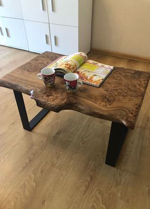 Журнальный стол лофт loft кофейный стол натуральное Дерево слэб