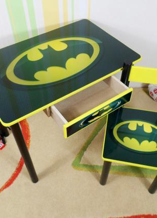 "Детский столик - парта стульчик "" Бєтмен "" стол и стул"