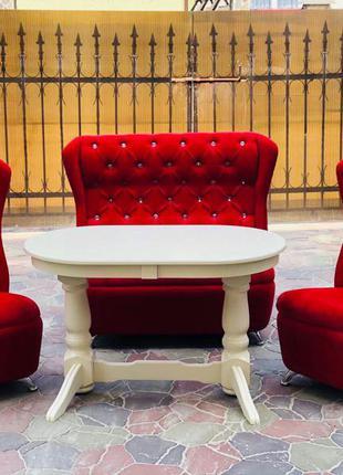 Шикарные диваны Swarovski!Столы деревянные в ассортименте