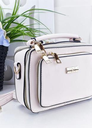 Клатч женский белый сумка