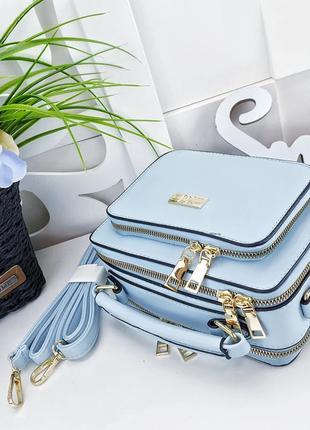 Женская сумка клатч голубой