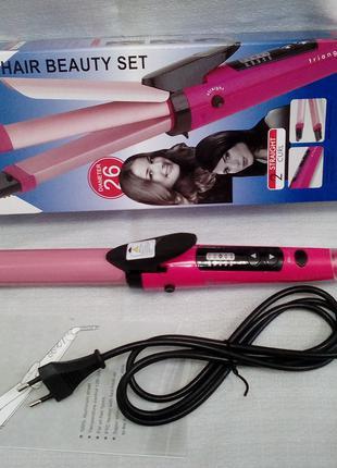 Плойка-выпрямитель для волос 2 в 1 Domotec Ms-4982