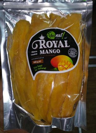 Манго сушеное без сахара Royal Mango 500г Тайланд