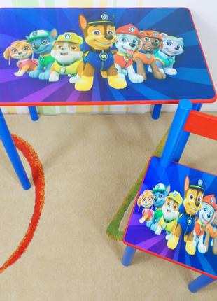 """Детский столик с ящичком и стульчик """" Щенячий Патруль """" стол стул"""