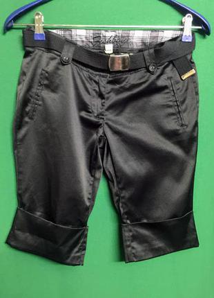 Атласные шорты с поясом fishbone s/m