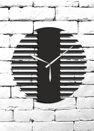 """Настенные Дизайнерские Часы""""Барбер"""" Из Дерева,Лофт,Панно"""