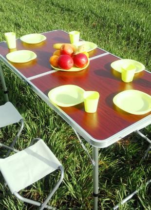 Стол набор для пикника раскладной с 4 стульями Folding Table. ХИТ