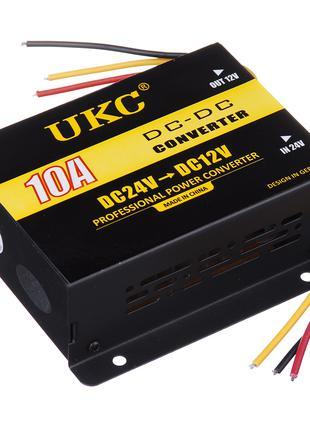 Инвертор преобразователь UKC DC/DC 24v-12v 10 A