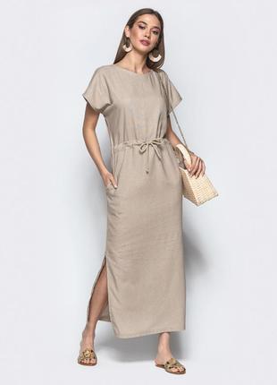 Платье летнее лен
