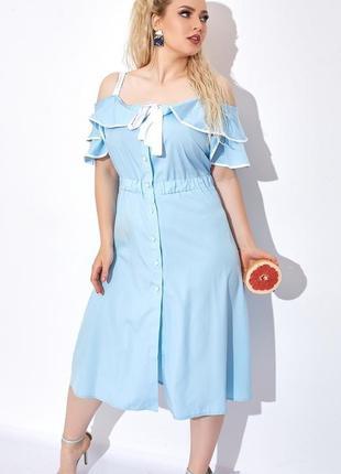 Платье женское большого размера, платье миди, жіноче плаття батал