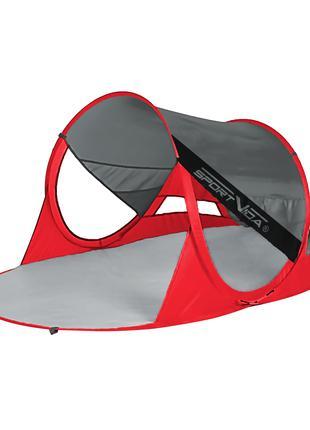 Пляжный тент SportVida Grey/Red 190 x 120 см