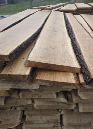 Необрезная сухая доска (дуб, ясень, ольха) Пиломатериалы.