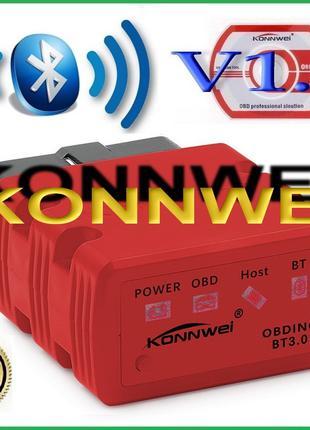 ELM327 KONNWEI KW902 Bluetooth Супер OBD2 с Автовыкл Android ОБД2