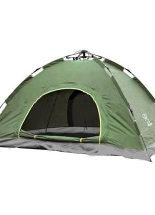 Палатка туристическая двухместная автомат зеленая
