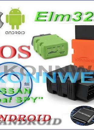 Сканер ELM327 KONNWEI KW902 V1.5 IPHONE (Android) на PIC18F25K80