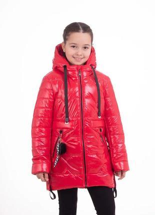 Курточка для девочки удлиненная