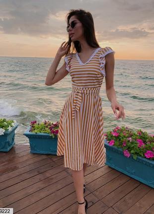 Платье женское, платье в полоску, летнее платье до колен