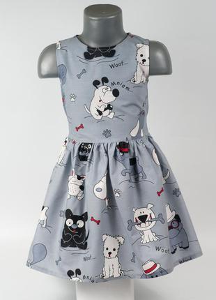 Платье детское в собачках.